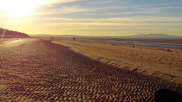 Scotland Aberlady Bay beach